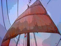 'Historisches Segel im Wind' von Dirk h. Wendt bei artflakes.com als Poster oder Kunstdruck $18.03