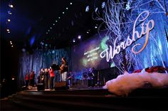 church stage decorations - Google Search