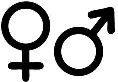 Man vrouw symbool deursticker - Quality Sticker