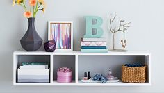 Want Mike to make this for MC room!  Wall-Mounted Shelf with Storage