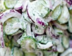 Quick & Easy Keto Cucumber Onion Salad - guide for keto diet Keto Diet Guide, Best Keto Diet, Veggie Recipes, Snack Recipes, Veggie Food, Keto Recipes, Cucumber Onion Salad, Dill Dressing, Creamy Cucumbers