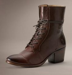 a197f431675 The Courtney Lace Up ankle boot by Frye is inspired by Victorian styles and  crafted by
