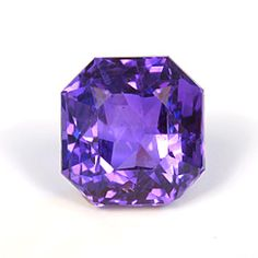 Madagascar sapphire, 3.75 ct., 8.34 x 8.01 x 5.76 mm., radiant cut. Violet-blue color shown in daylight