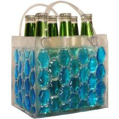 Freezable beverage tote. Great for keeping drinks cold at the beach, picnic or other summer excursion.