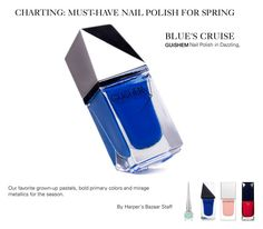 """GUiSHEM Premium Nail Lacquer at Harper's Bazaar"" by guishem ❤ liked on Polyvore featuring beauty"