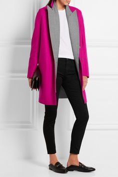 Harris Wharf London | Wool-felt coat | NET-A-PORTER.COM