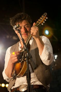 Marcus Mumford, mega-talented. On the mandolin