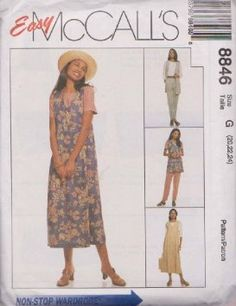 Misses Unlined Vest, Jumper, Top And Pull-On Pants McCall's Sewing Pattern 8846 (Size G: 20-22-24)