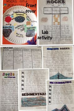 Rocks and Minerals Notebooking/Lab Activity 4th Grade