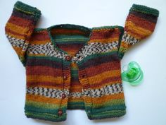 Hand knitted baby cardiganFree Shipping by KnitDjin on Etsy