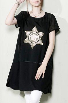Black summer maternity dress oversize sundresses blouse shirt