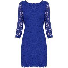 DIANE VON FURSTENBERG Zarita Lace Dress (14.500 RUB) found on Polyvore