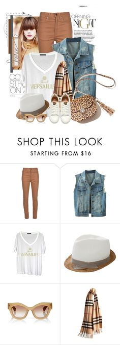 """""""Untitled #2324"""" by bellerodrigues ❤ liked on Polyvore featuring Wood Wood, Brunello Cucinelli, Jonathan Saunders, Burberry and H&M"""