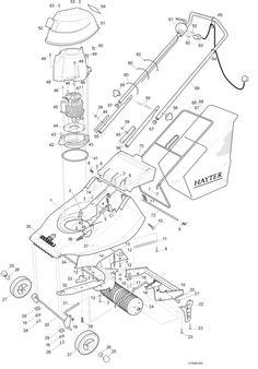 Hayter Harrier 41 - 309A001001 Spare Parts Machine diagrams Schematics Shoulders of shoreham www.shouldersofshoreham.co.uk