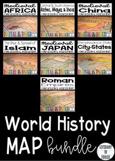 Medieval japan map lesson and assessment geography google drive world history map lessons bundle digital and pdf versions gumiabroncs Images