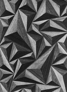 INTARSIA (WOOD VENEER PATTERN), 1960s  …triangles!