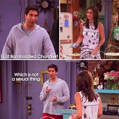 I just bamboozled Chandler! #FRIENDS