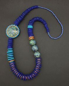 Cobalt and Turquoise Necklace