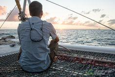 Dan Meditates on Sunset Cruise - St. Maarten