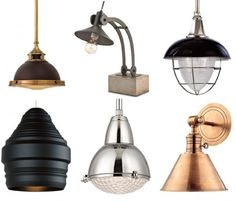 Check out these new industrial looks for your home. Industrial Lighting, Sconce Lighting, Lighting Design, Lighting Solutions, Sconces, Ceiling Lights, Home Decor, Light Design, Chandeliers