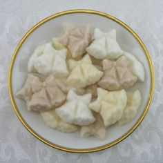 Neutral Colored Double Wedding Bell Shaped Sugar Cubes - 30 Pieces by Sugars by Sharon on Gourmly