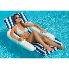 Blue Wave Sunchaser Padded Floating Pool Lounger