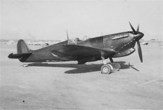 Supermarine Spitfire P.R. Mk.IV. No. AB312 (tropicalised unarmed photo-recconnaissance version) at Mariyut (L.G. 227)