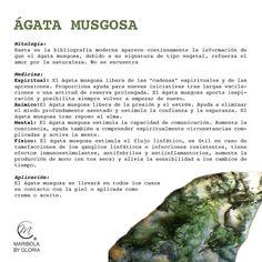 Aprendemos sobre el ágata musgosa. Copyright: maribolabygloria.com
