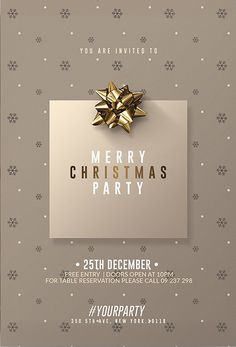 Awesome Flyer Templates - available poster 2 Classy Christmas Classy Christmas, Christmas Ad, Christmas Design, Christmas Decor, Christmas Flyer Template, Christmas Templates, Invitation Flyer, Invitations, Christmas Party Poster