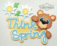 Premade Paper Piecing for Scrapbook Page Spring by bljgravesstudio, $7.99