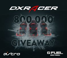 DXRacer's 800,000 Follower Giveaway: I just entered @DXRacer's 800,000 follower #Giveaway to win a new gaming chair and prize package from @AstroGAMING and @GFuelEnergy! Enter at DXR.US/G