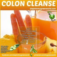 """The purpose of the colon is to process waste from the food you eat, turn it into feces, and ELIMINATE IT from  your body. According to the American Cancer Society, """"Colorectal cancer is the third most common cancer diagnosed in both men and women in the United States."""" START DETOXING WITH THIS COLON CLEANSE JUICE:"""