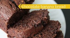 decadent chocolate banana bread recipe - easy and perfect for giving! I and all my family members LOVED this. This may become my new banana bread recipe- I just got to try it without chocolate chips since I don't always have those in the house. Double Chocolate Banana Bread Recipe, Best Banana Bread, Banana Bread Recipes, Chocolate Chips, Diet Coke Brownies, Paleo Brownies, Homemade Brownies, Just Desserts, Sweets