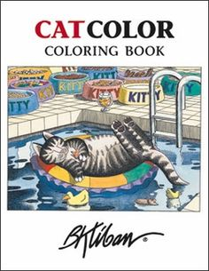 Kliban cat coloring book from Pomegranate.
