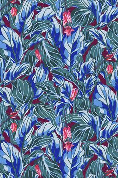 DESIGN IWA HERDENSJÖ Motif - Stunner Bordeaux Swedish designer Iwa Herdensjö has an exciting, personal, extravagant style that stands out from the crowd. Her collection offers luxurios patterns exploding with colour. Iwa is trained at Konstfack in Stockholm, Sweden.  #wallpaper #tapet #floral #colorful #wallart #nterior #homedecor #patterns #tapete #tapet