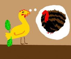 """Here's what happened when 15 random people took turns drawing and describing, starting with the prompt """"Baby chick has aspirations to become a turkey"""". Baby Chicks, How To Become, Turkey, Game, Drawings, Pictures, Photos, Turkey Country, Gaming"""
