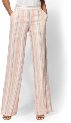 new york company 7th avenue pant white stripe palazzo
