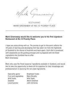 Restaurant Mark Greenaway, Edinburgh