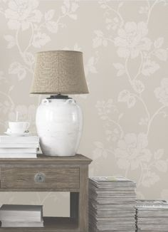Delicate flower prints give a beautiful country feel to any room. Combine with textured, natural furniture such as wooden tables and rattan light shades. View our full range of wallpaper on diy.com/wallpaper