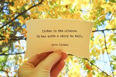 """Listen In Silence"" Yellow Inspirational Quote Nature Art Happy Quotes, Best Quotes, Love Quotes, Funny Quotes, Short Quotes, Bible Quotes, Words Quotes, Cute Text Messages, Birthday Wishes For Daughter"