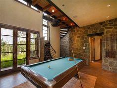 Billiards room in luxury home in Telluride, Colorado