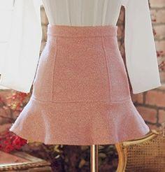 Tweed de lana Pinky falda corta por TheLittleFrenchGirl en Etsy, €140,00
