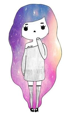 Oblyvian girls on Pinterest | Galaxy Hair, Tumblr Girls and Chibi