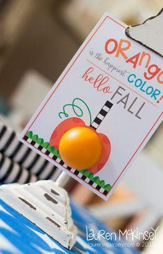 Teacher Gift Fall printables from Lauren McKinsey :: EOS printable lip balm holder