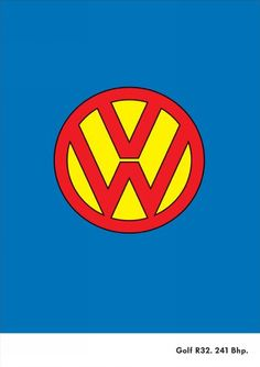 The Print Ad titled SUPERMAN was done by DDB Auckland advertising agency for product: Volkswagen Golf (brand: Volkswagen) in New Zealand. Luxury Sports Cars, Sport Cars, Vw Logo, Volkswagen Logo, Volkswagen Karmann Ghia, Vw T1, Vw Pointer, Combi T2, Vw Variant