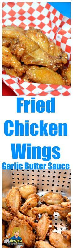 Fried Chicken Wings in Honey Garlic Butter : recipesforourdailybread