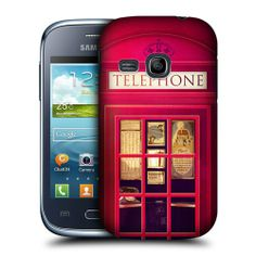 Amazon.com: Head Case Red London Telephone Box Booth Case For Samsung Galaxy Young S6310: Cell Phones & Accessories