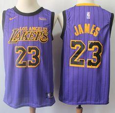 802885bbefc Nike Lakers  23 LeBron James Purple NBA Swingman City Edition Jersey Nba  Swingman Jersey