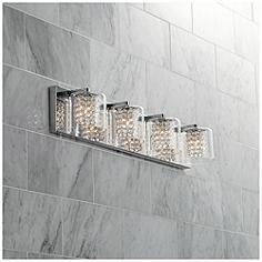 Possini Euro Coco 4 Light 28 1 2 W Clear Crystal Bath