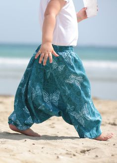 Cotton Harem Pants in Butterly Print